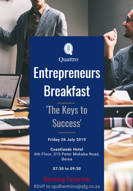 Entrepreneurs Breakfast 26 July 2019