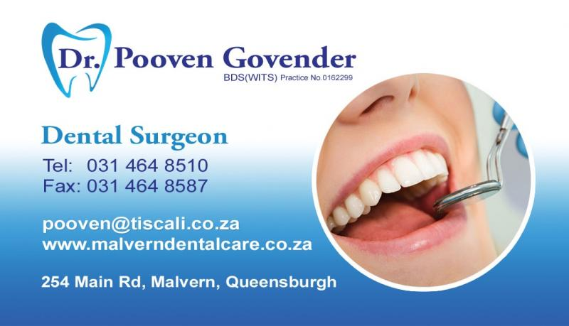 Malvern Dental Care - Dr Pooven Govender - Dentist/Dental Surgeon  - Queensburgh